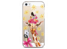 Coque iPhone 5C Watercolor Floral Giraffe