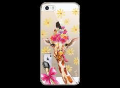 Coque iPhone 5C Watercolor Floral Giraffe