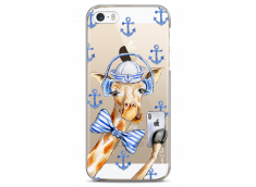 Coque iPhone 5C Watercolor Marine Giraffe