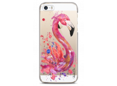 Coque iPhone 5C Watercolor summer flamingo