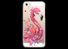 Coque iPhone 5C Watercolor summer flamingo