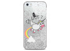 Coque iPhone 5/5s/SE Silver glitter Ça gaze