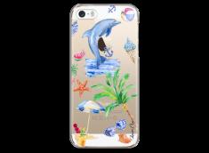 Coque iPhone 5C Summer watercolor pattern sea