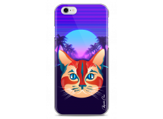 Coque iPhone 6Plus/6SPlus Gradient cat design