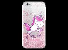 Coque iPhone 6/6S Pink glitter J'ai Licorne