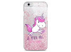 Coque iPhone 6Plus/6SPlus Pink glitter J'ai Licorne