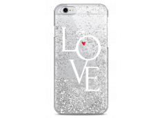 Coque iPhone 6/6S Silver glitter Love is all you need