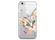 Coque iPhone 6/6S Summer watercolor cat