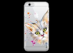 Coque iPhone 6Plus/6SPlus Summer watercolor cat
