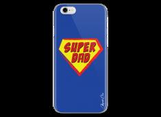 Coque iPhone 6Plus/6SPlus Super Dad - blue design