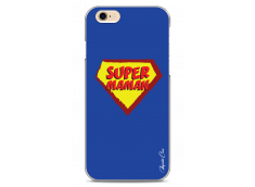 Coque iPhone 6Plus/6SPlus Super Maman - blue design
