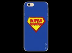 Coque iPhone 6Plus/6SPlus Super Maman - blue design