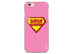 Coque iPhone 6/6S Super Maman - pink design