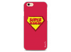 Coque iPhone 6Plus/6SPlus Super Maman - red design
