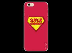 Coque iPhone 6Plus/6SPlus Super Maman - red design
