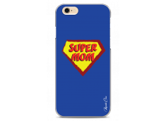 Coque iPhone 6Plus/6SPlus Super Mom - blue design