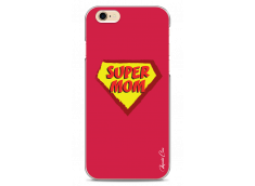 Coque iPhone 6Plus/6SPlus Super Mom - red design