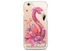 Coque iPhone 6/6S Watercolor summer flamingo pattern