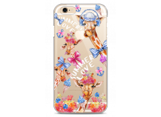 Coque iPhone 6/6S Summer watercolor pattern giraffe