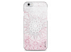 Coque iPhone 6Plus/6SPlus Pink glitter - white Mandala