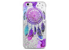 Coque iPhone 6Plus/6SPlus Silver glitter Dreamcatcher artistic color