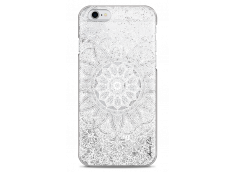 Coque iPhone 6/6S Silver glitter - white Mandala