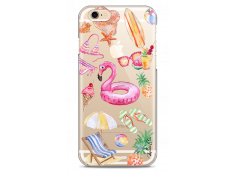 Coque iPhone 6/6S Summer watercolor pattern beach
