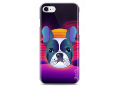 Coque iPhone 7/8 Gradient french buldog design