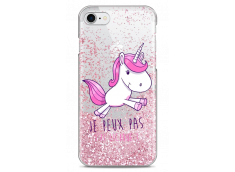 Coque iPhone 7/8 Pink glitter J'ai Licorne