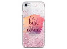 Coque iPhone Coque iPhone 7/8 Pink glitter The best is yet to come