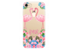 Coque iPhone 7/8 Summer flamingo amor