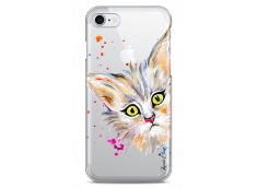 Coque iPhone 7/8 Summer watercolor cat