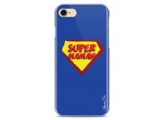 Coque iPhone 7Plus/8Plus Super Maman - blue design