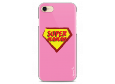 Coque iPhone 7Plus/8Plus Super Maman - pink design