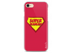 Coque iPhone 7Plus/8Plus Super Maman - red design