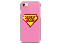 Coque iPhone 7Plus/8Plus Super Mom - pink design