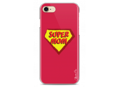 Coque iPhone 7Plus/8Plus Super Mom - red design