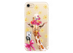 Coque iPhone 7Plus/8Plus Watercolor Floral Giraffe