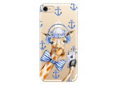 Coque iPhone 7Plus/8Plus Watercolor Marine Giraffe