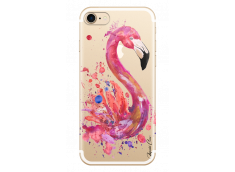 Coque iPhone 7/8 Watercolor summer flamingo