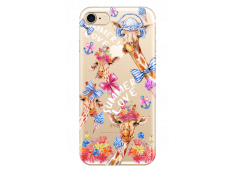 Coque iPhone 7/8 Summer watercolor pattern giraffe
