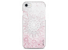 Coque iPhone 7/8 Pink glitter - white Mandala