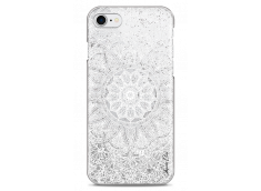 Coque iPhone 7/8 Silver glitter - white Mandala