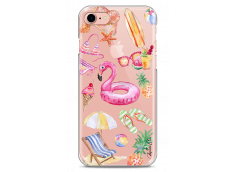 Coque iPhone 7Plus/8Plus Summer watercolor pattern beach