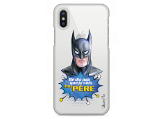 Coque iPhone X Batman watercolor masque