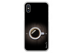 Coque iPhone X Coffee wood design