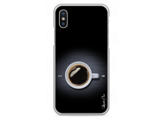 Coque iPhone X Coffee metal design