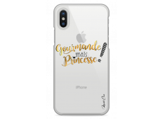 Coque iPhone X Gourmande mais Princesse