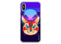 Coque iPhone X Gradient cat design