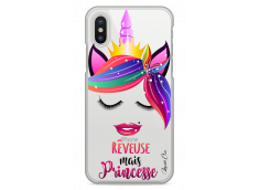 Coque iPhone X Rêveuse mais Princesse
